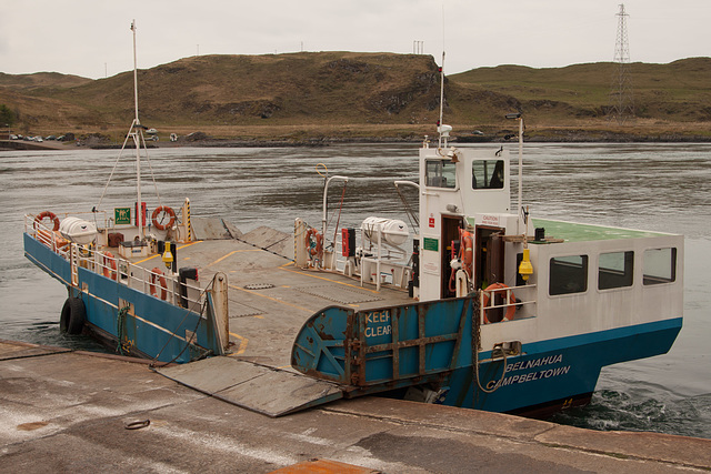 The Luing Ferry - ready for loading at Cuan