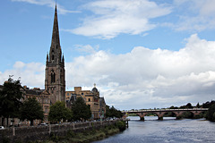 St.Matthews Church of Scotland and the River Tay,Perth
