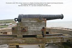 Cannon on Martello Tower No 74 Seaford