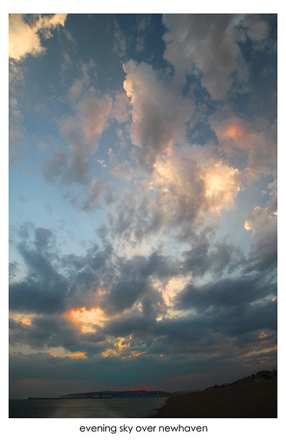 Evening sky over Newhaven - 16.7.2015