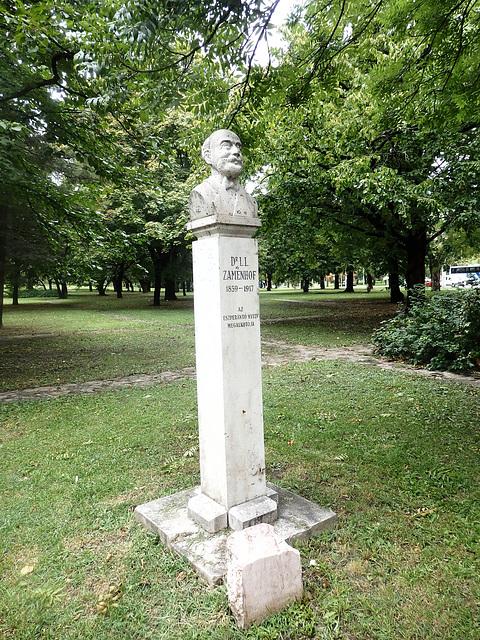 Monumento omaĝe al d-ro Zamenhof en Budapeŝto