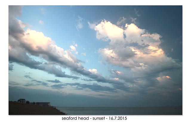 seaford head - sunset - 16.7.2015
