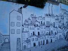 Painting on the wall of Roque Gameiro House.