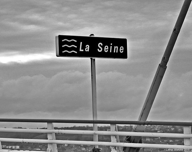 Pont de Normandie, 50 m darüber...