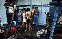 Schlachten am Strassenrand in Chinatown, Singapur (Chinatown) 1981