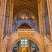 Anglican cathedral interior looking towards the altar