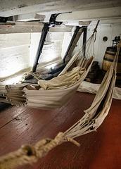 Hammocks on the HMS 'Unicorn'