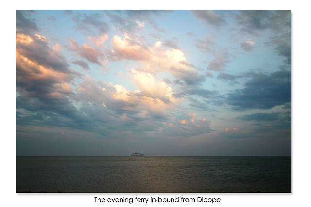 The evening ferry in-bound from Dieppe - Seaford Bay - 16.7.2015