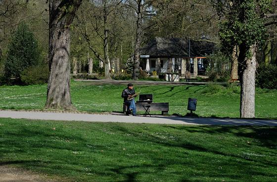 Musiker im Domgarten