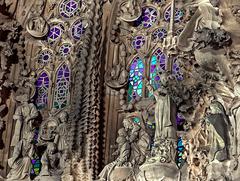Sagrada Familia - an der Südwestfassade