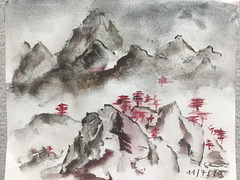 Des montagnes en Chine