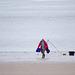 Beach fishing at New Brighton
