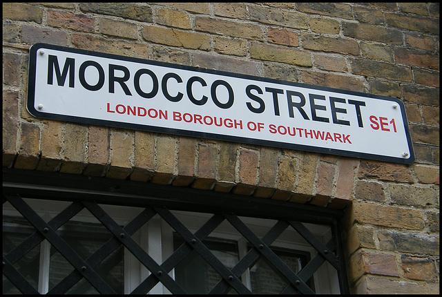 Morocco Street street sign