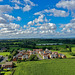 Cotton wool clouds over Shropshire