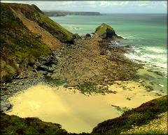 Basset Cove, North Cliffs, Cornwall
