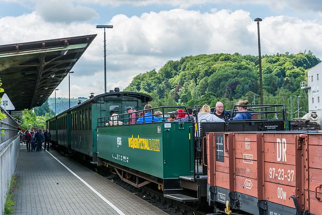 Bereit zur ersten öffentlichen Fahrt nach Kipsdorf nach 15 Jahren