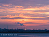 Sunset over the incinerator