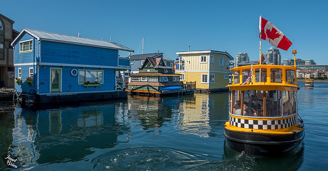 A Day Walking in Victoria, Part 3--Water Taxis, House Boats & More! (+7 insets!)