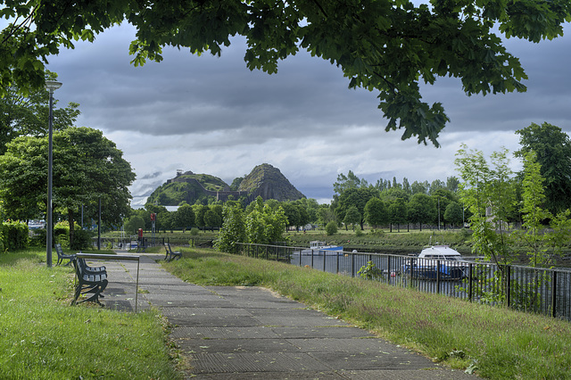 Dumbarton Rock and the River Leven