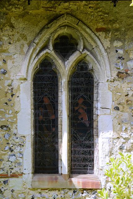 A window of St Bartholomew Church Wanborough
