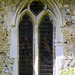 A window of St Bartholomew Church Wanborough