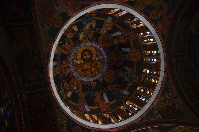 Rhodes, Interior of Aghios Panteleimonas Church in Siana