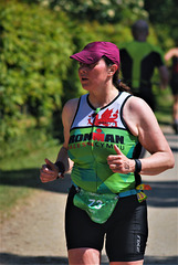 Grafham Water Triathlon.  Katy from Wales