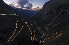 Trollstigen by night