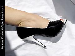 Sara's dreamy corset heels