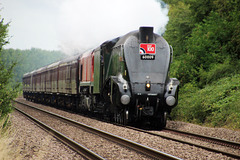 """LNER A4 Class 4- 6-2 no 60009 """"Union of South Africa"""" on """"THE RAF 100"""" ~ 10th July 2018"""