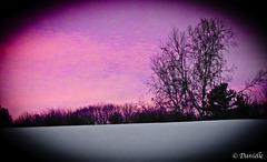 Coucher de soleil d'hiver….