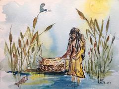 Moïse sauvé des eaux .