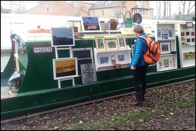 narrowboat art gallery