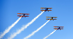 Biplanes Fly By at Casa Grande (Arizona) Air Show
