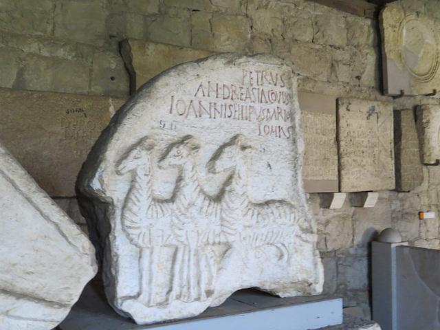 Musée archéologique de Split : inscription chrétienne.