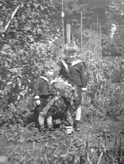 1936 - mein Bruder und ich - mi kaj mia frato