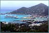 Tortola : Arrivo a Road Town - 2 navi al terminal : Norvegian Star e Costa Atlantica