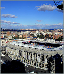 Estadio Santiago Bernabeu, iconic home of Real Madrid and venue for the 1982 world cup final.