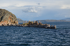 Bolivia, Titicaca Lake, Dangerous Reef at the Outlet from the Bay of Copacabana