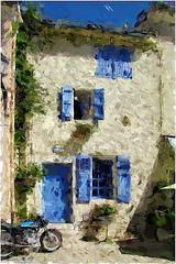 La Maison Bleue ... 2eme essai FotoSketcher ...