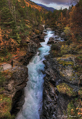 Slettafossen waterfall, river Rauma.