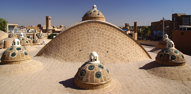 Roof of a hammam in Kashan