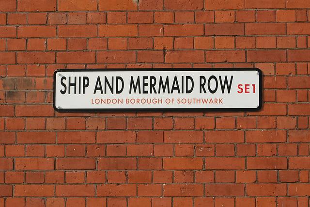 Ship and Mermaid Row SE1