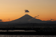 Sunset on Fuji