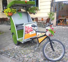 Grüne Rikscha in München - verda rikiŝo en Munkeno