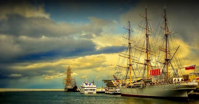 Gdynia, port / Gdynia Hafen