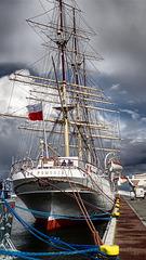 Gdynia, fregata Dar Pomorza / Gdynia, die Fregatte Dar Pomorza