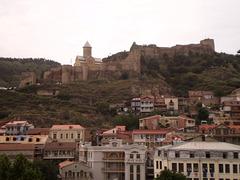 View to Narikala Fortress and Saint Nicholas Church.