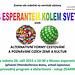 """Ĉeĥlingva invitilo al inaŭguro de la nova tema ekspozicio """"Kun Esperanto ĉirkaŭ la mondo"""""""