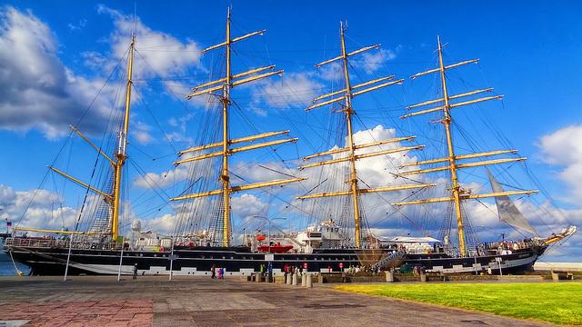 Gdynia, rosyjski żaglowiecKruzensztern , czteromasztowy bark / Gdynia, russische Großsegler Kruzensztern
